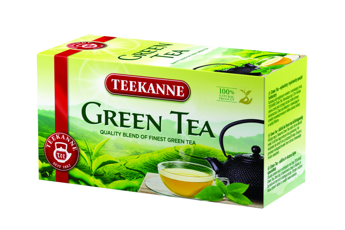 Zelený čaj Teekanne v novém balení