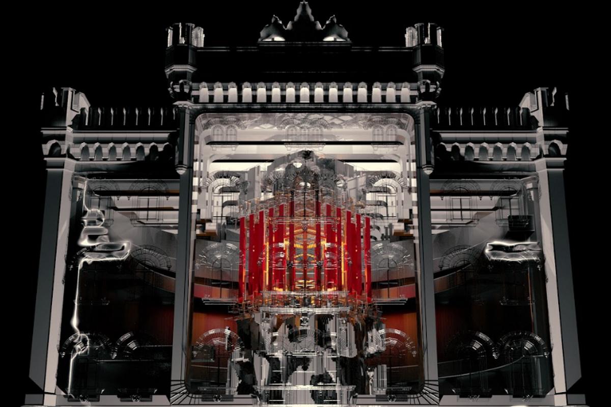 Vizualizace videomappingu na Palladiu