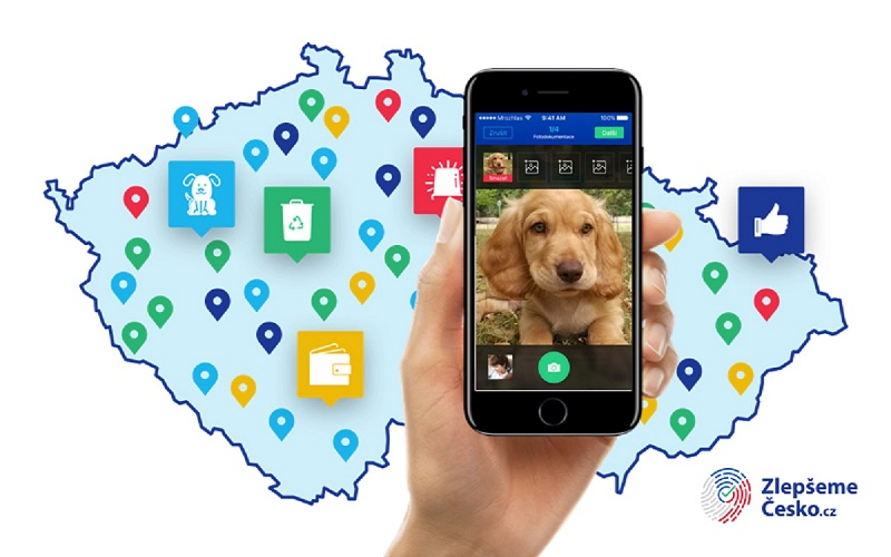 Zlepšeme Česko slouží k hlášení občanských podnětů, jako třeba nalezený pes