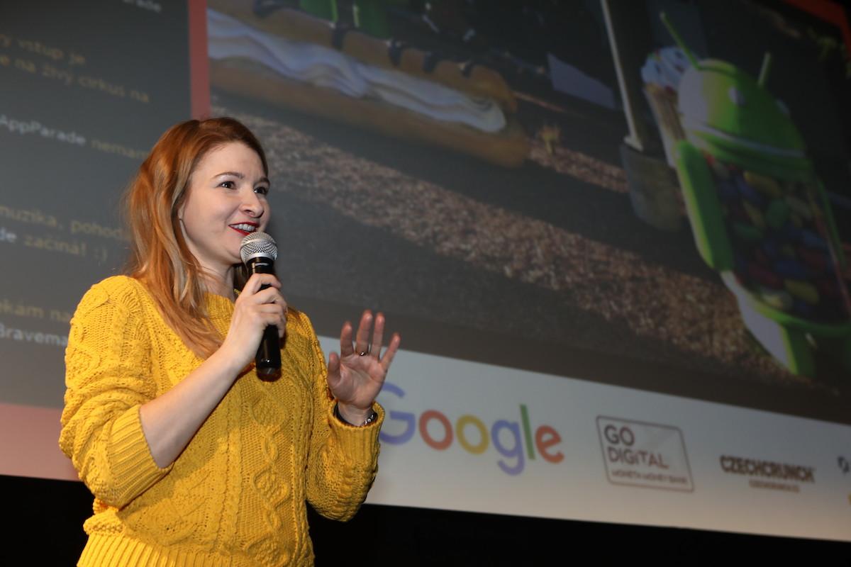 Alžběta Houzarová na přehlídce AppParade v únoru 2017. Foto: Tomáš Pánek