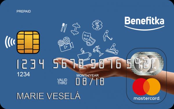 Vzhled nové karty zaměstnaneckých výhod Benefitky
