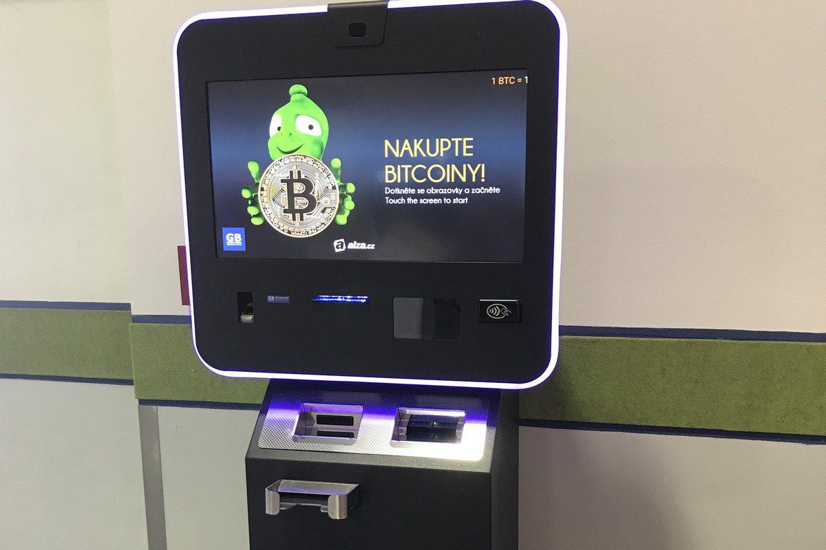Automat Alzy pro platbu v bitcoinech