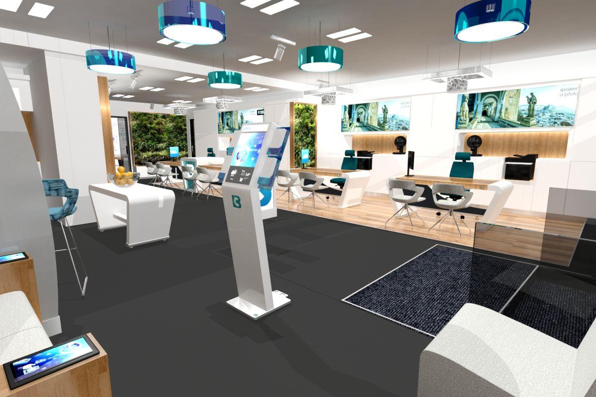 Vizualizace interiéru, který navrhla společnost Moris Design