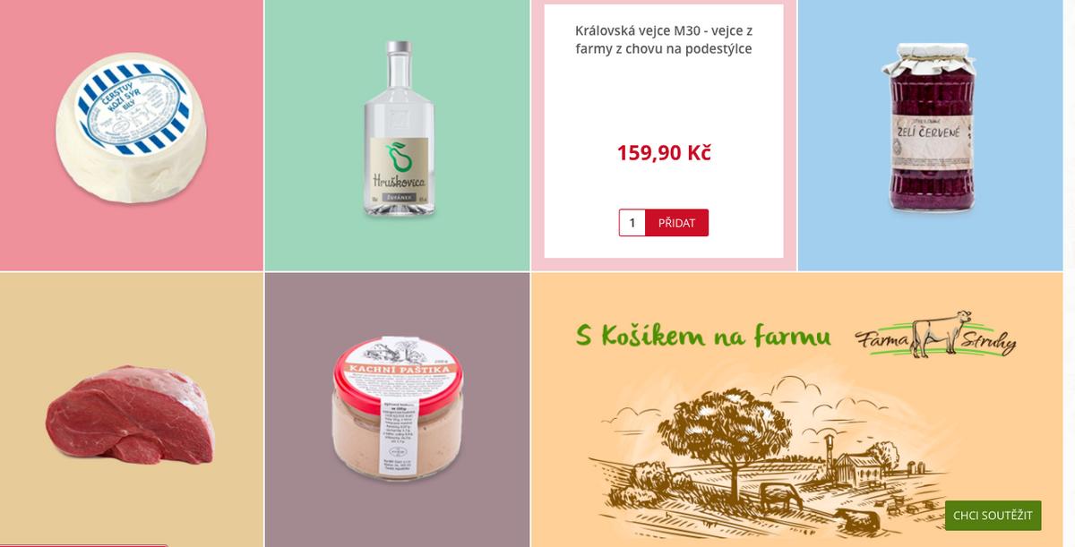 Ukázka regionálních produktů farmářského speciálu
