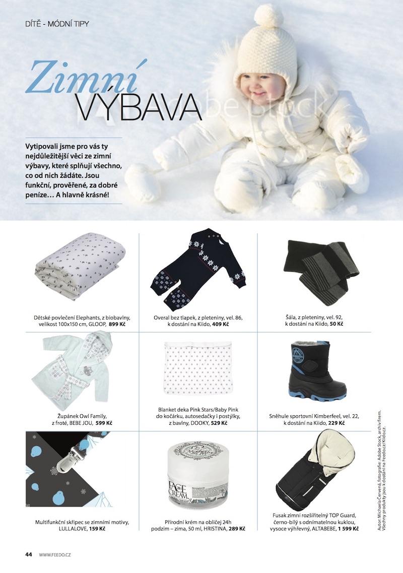 Ukázka z chystaného časopisu e-shopu Feedo.cz