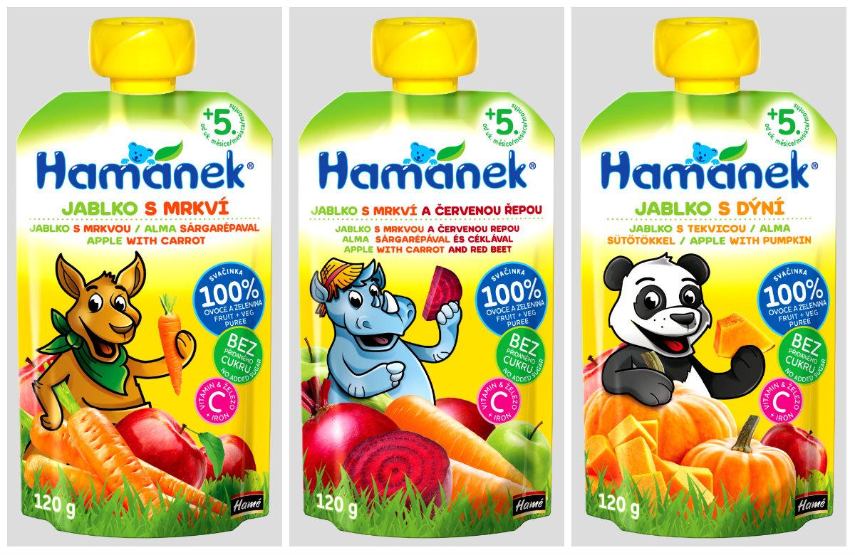 Nové varianty kojeneckých kapsiček Hamánek