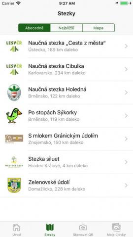Do projektu se zapojilo několik stezek po celém Česku
