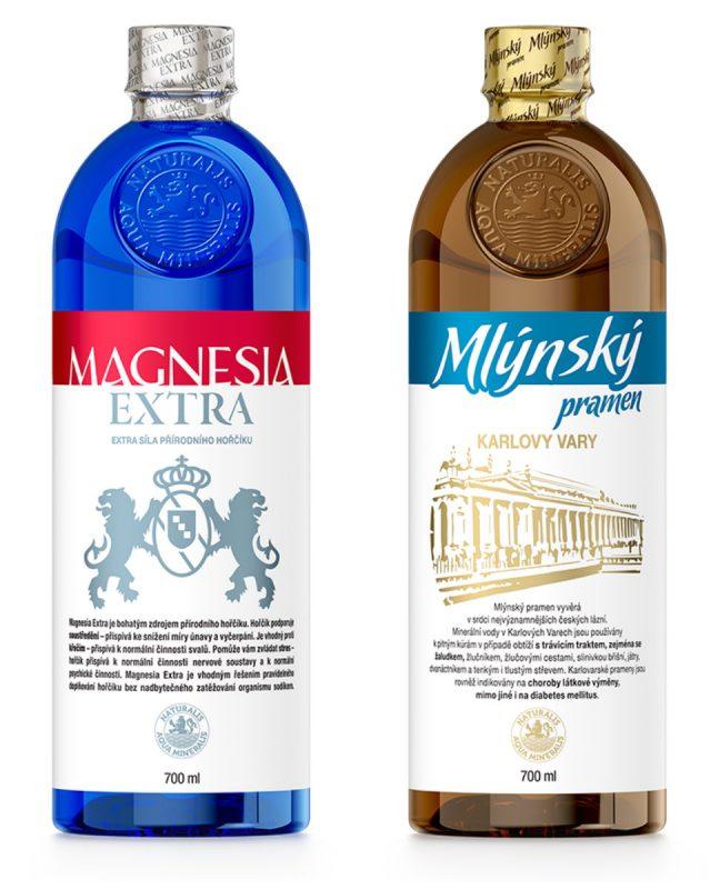Nové minerální vody Mlýnský pramen a Magnesia Extra