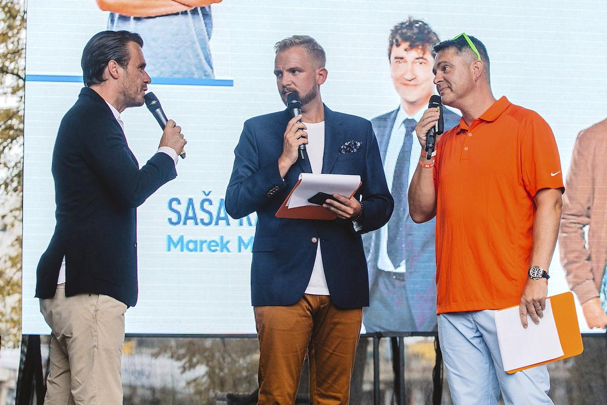 Leoš Mareš, Libor Bouček a šéf Primy Marek Singer. Foto: TV Prima