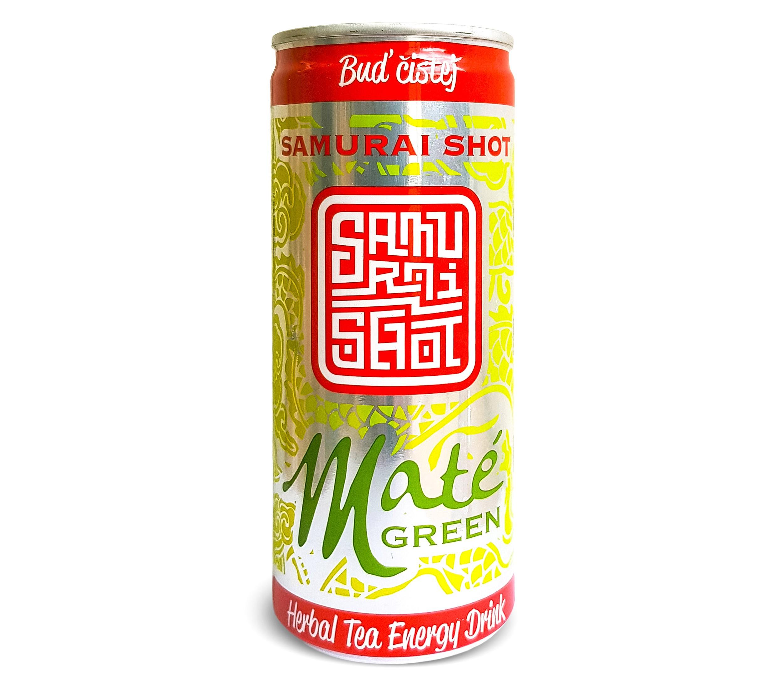 Nová plechovka Samurai Shot Maté Green