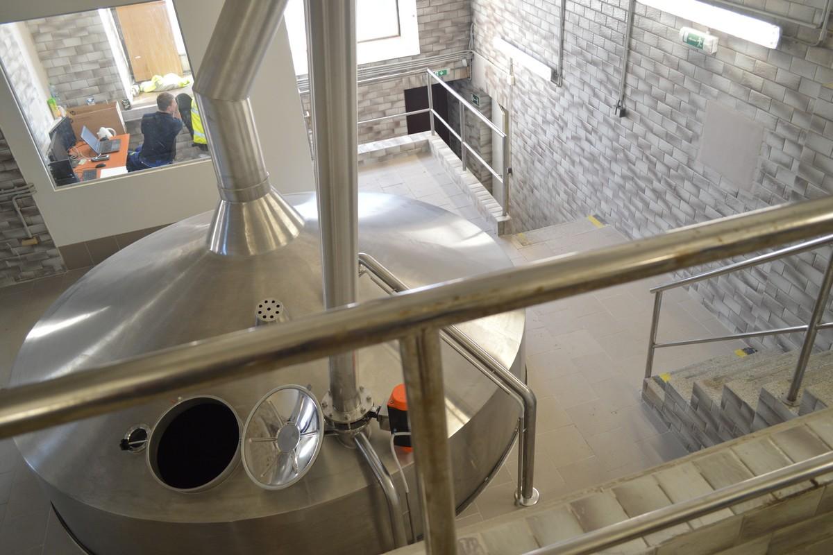 Káď v kutnohorském pivovaru po rekonstrukci