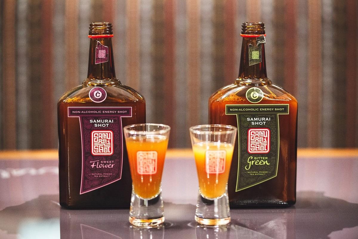 Originální balení drinku Samurai shot