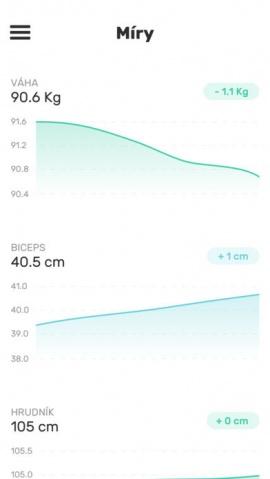Všechny informace se ukazují ve formě grafů