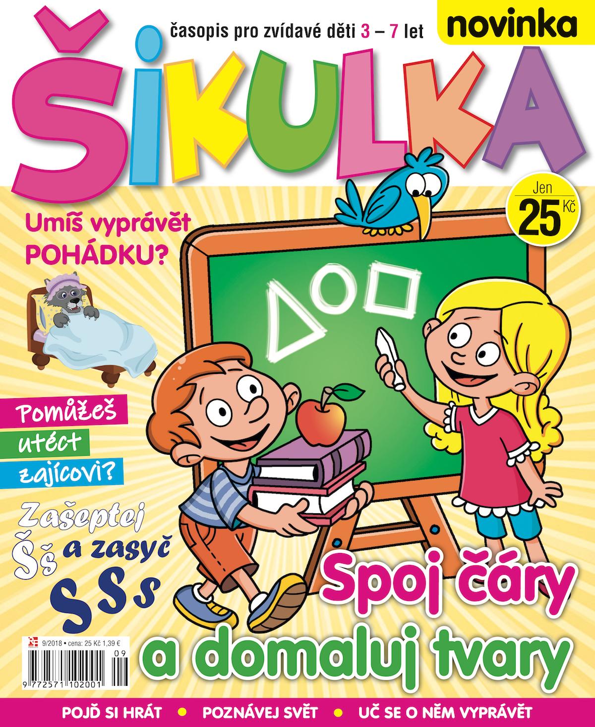 Titulní strana prvního vydání časopisu Šikulka