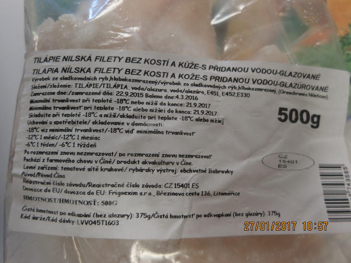 Falšovaná tilápie nilská