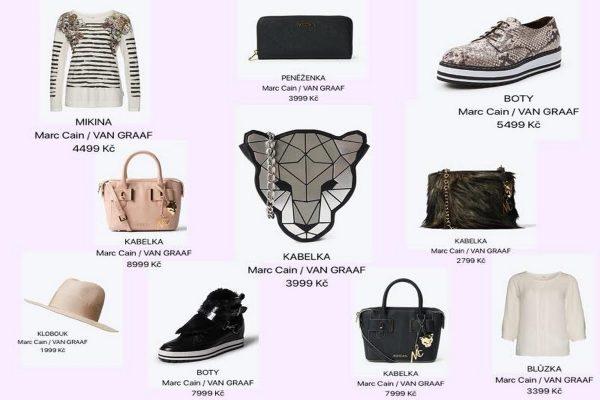 Produkty z podzimní/zimní kolekce značky Marc Cain a jejich ceny ve Van Graafu