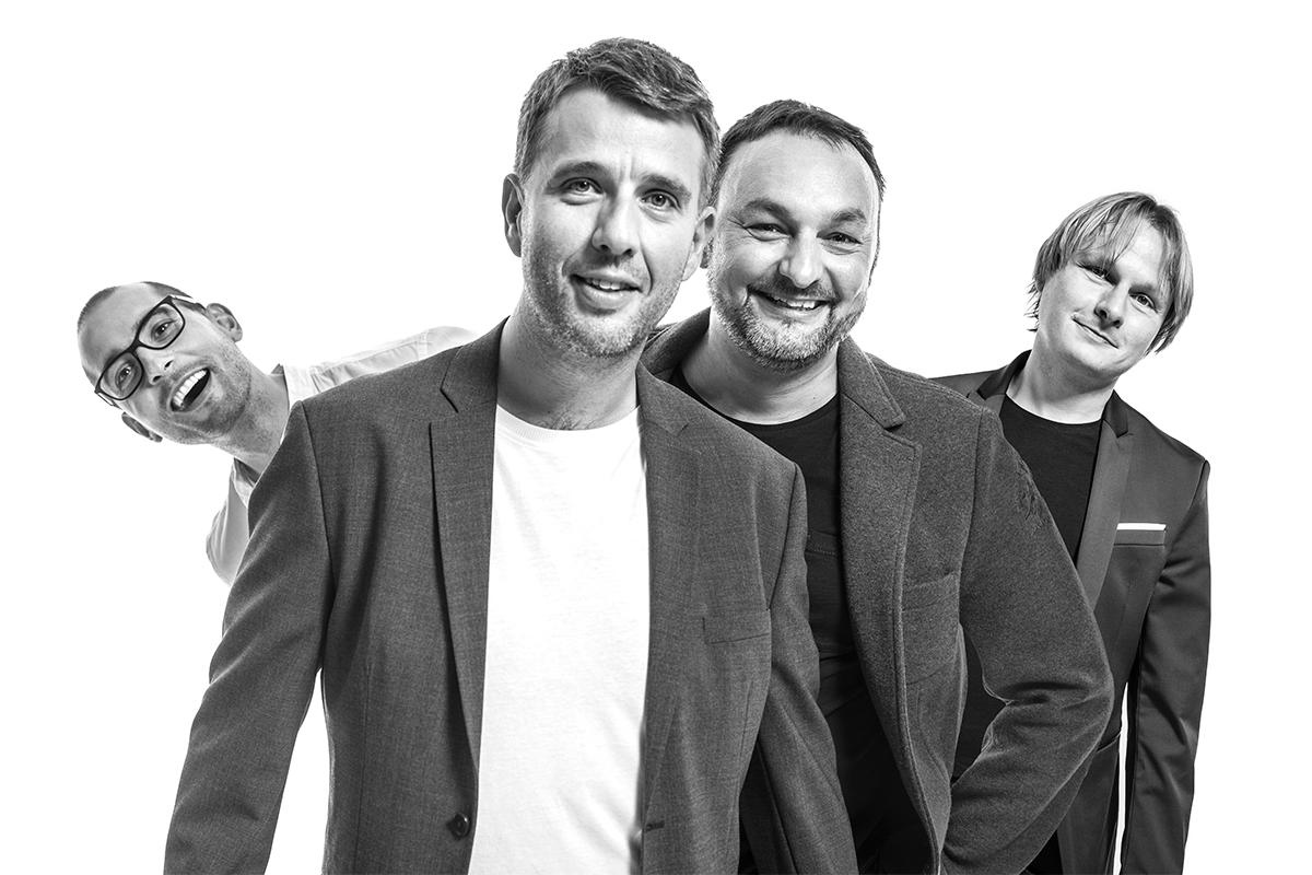 Zakladatelé eManu, zleva Michal Košek, Tomáš Čermák, Jiří Horyna a Jan Horyna