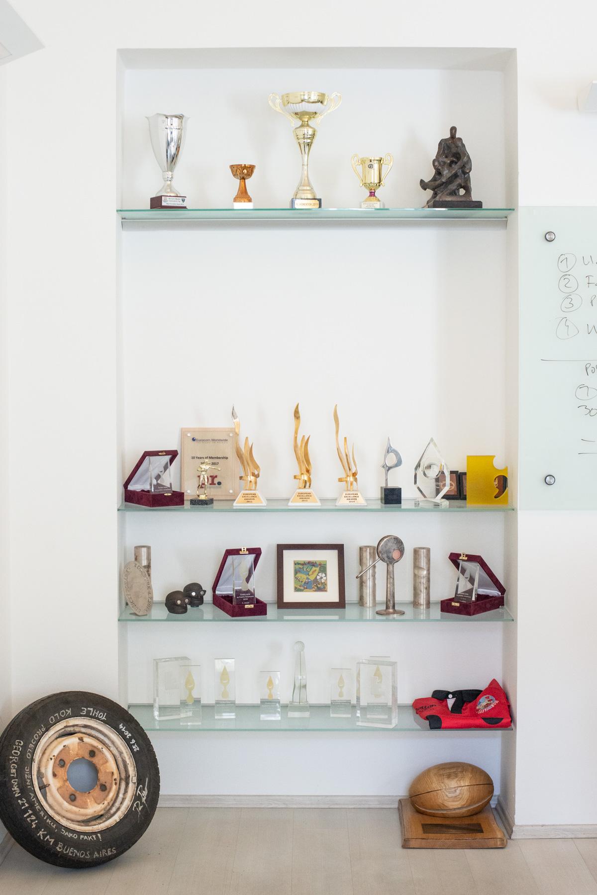 Trofeje Konektoru. Foto: David Bruner