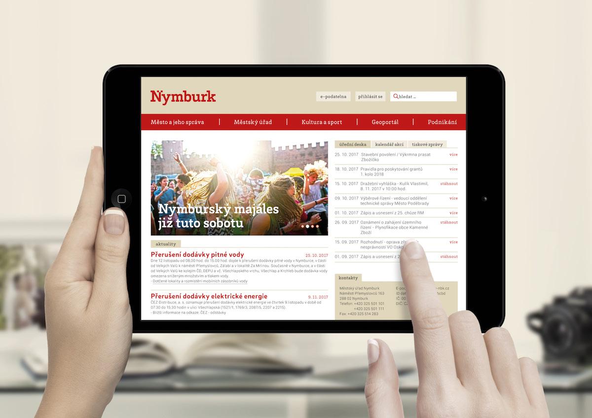 Nová vizuální identita města Nymburk od studia Colmo