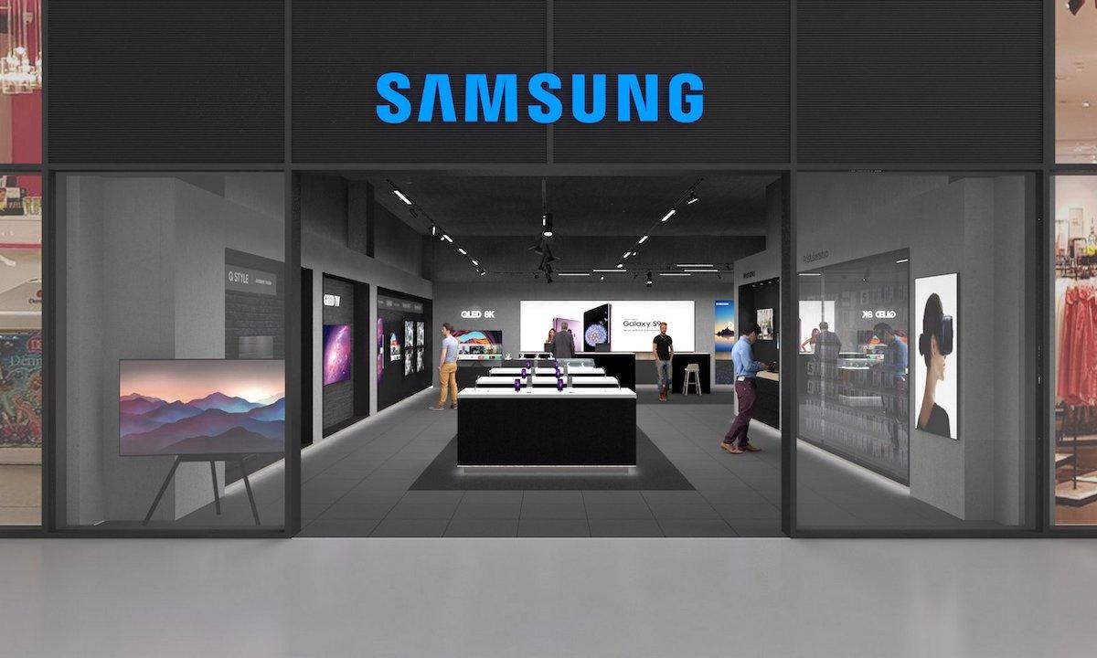 Průčelí prodejny Samsung v obchodním centru Forum Nová Karolina
