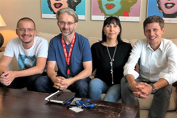 Zleva Petr Bažant, Jan Filipi, Luisa Alvesová, Luděk Hatoň