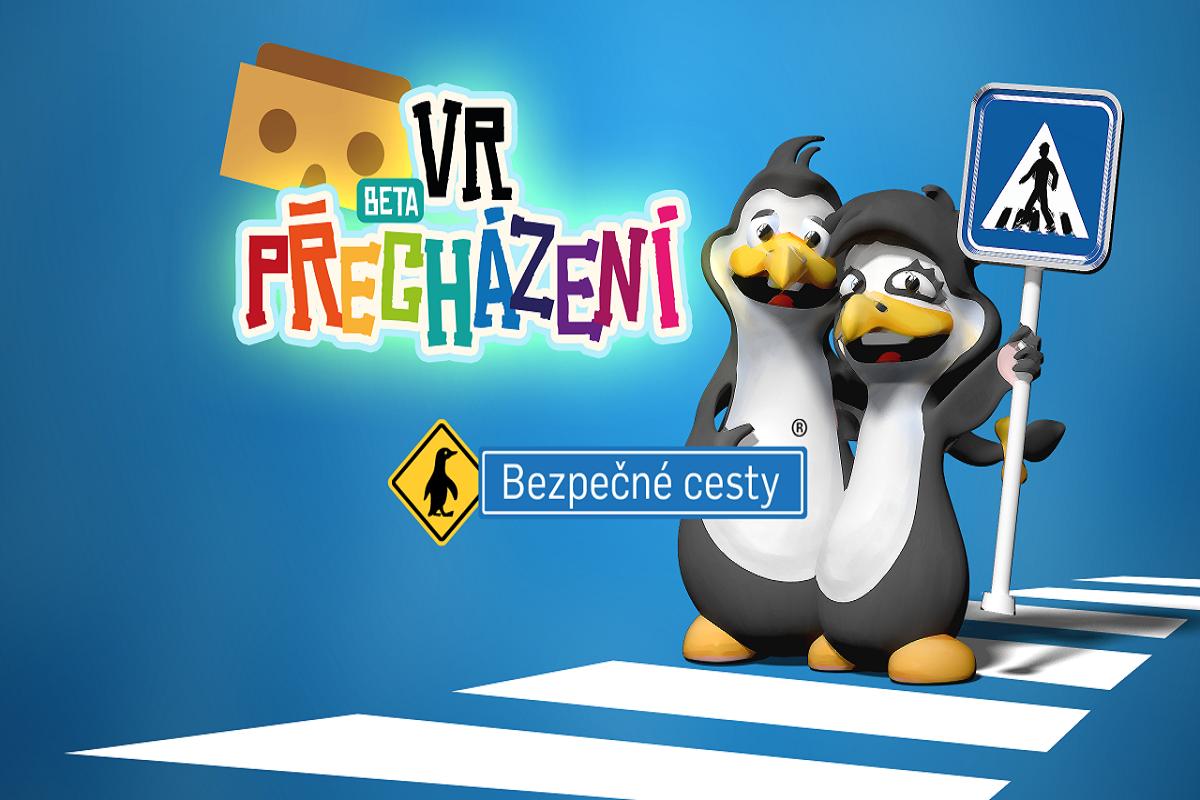 Aplikací provází tučňáci Mája a Pepa