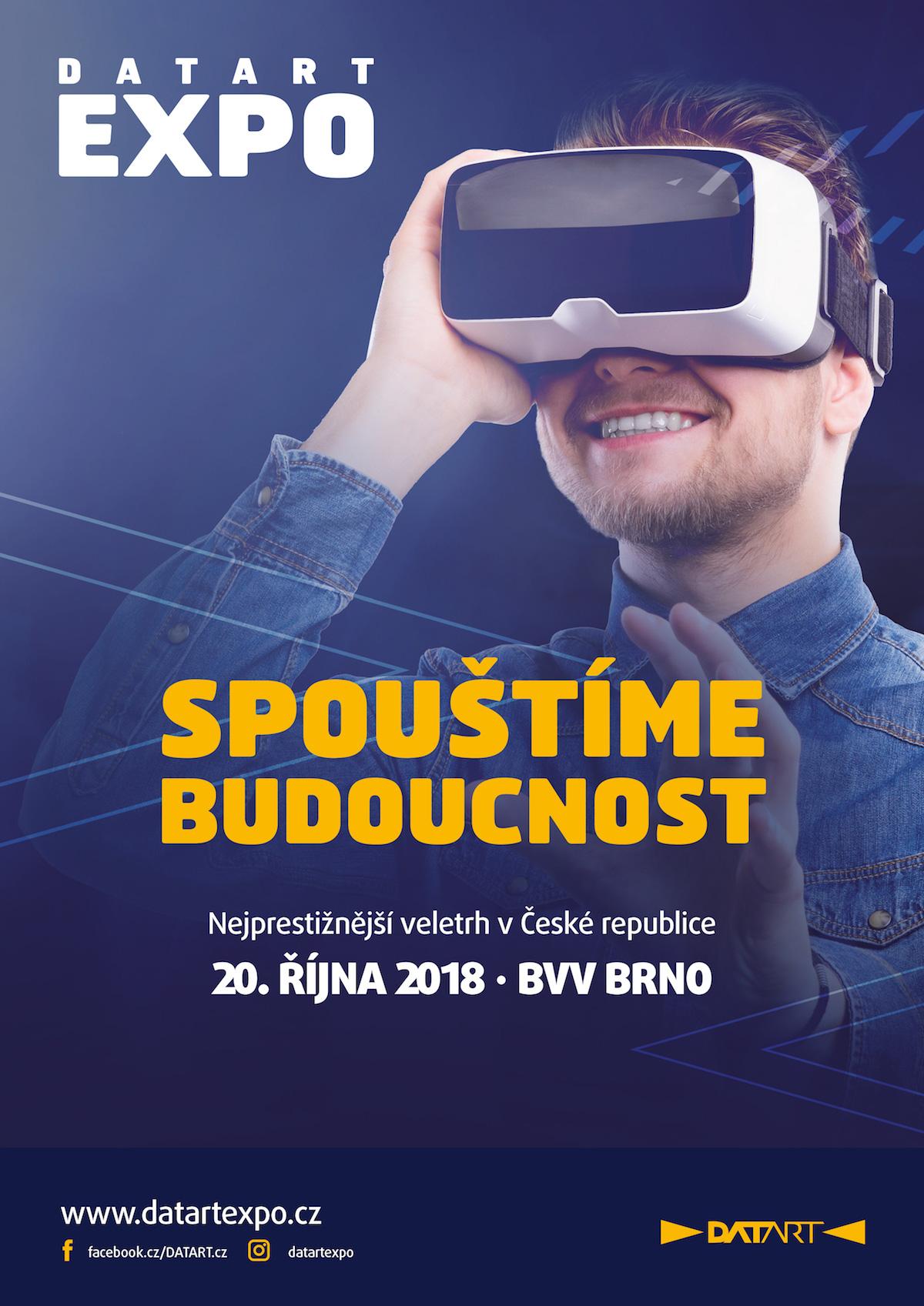 Propagační plakáty lákají na doprovodný program s virtuální realitou