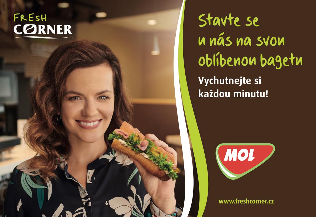 Marta Jandová v kampani MOL