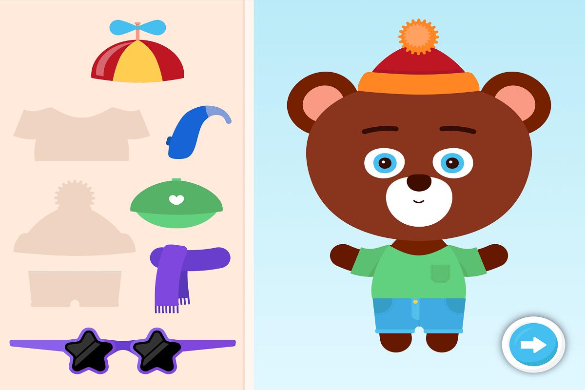 Aplikací provází medvěd Čumáček, kterého děti znají z tištětných příběhů