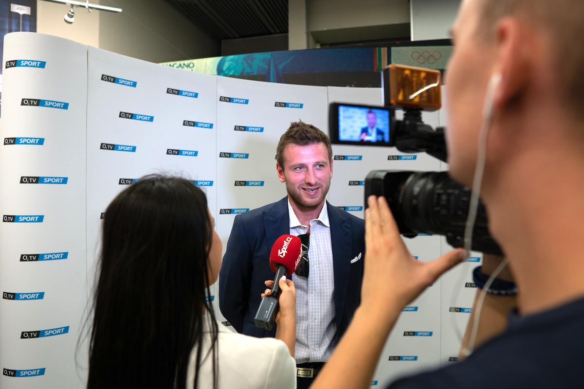 Jiří Tlustý na pondělní tiskové konferenci. Foto: O2