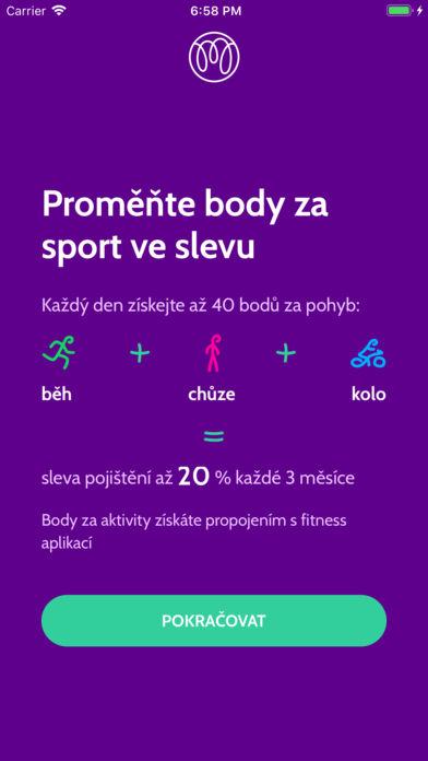 Sportovní body Mutumutu získává z jiných aplikací, jako je Zdraví, Google Fit nebo i Rekola a Týmuj