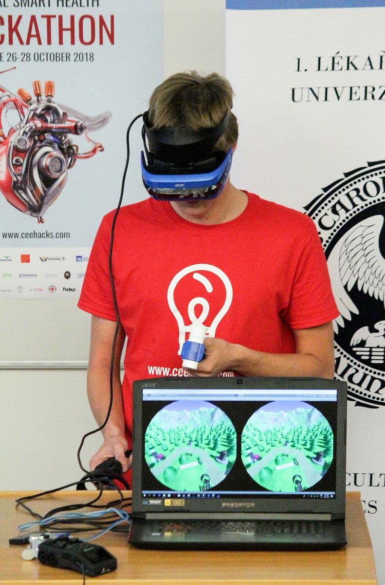 Hra od týmu Breath Hackers pomáhá vyhodnotit respirační potíže. Hráčův dech se přitom ve virtuální realitě zobrazuje jako dračí