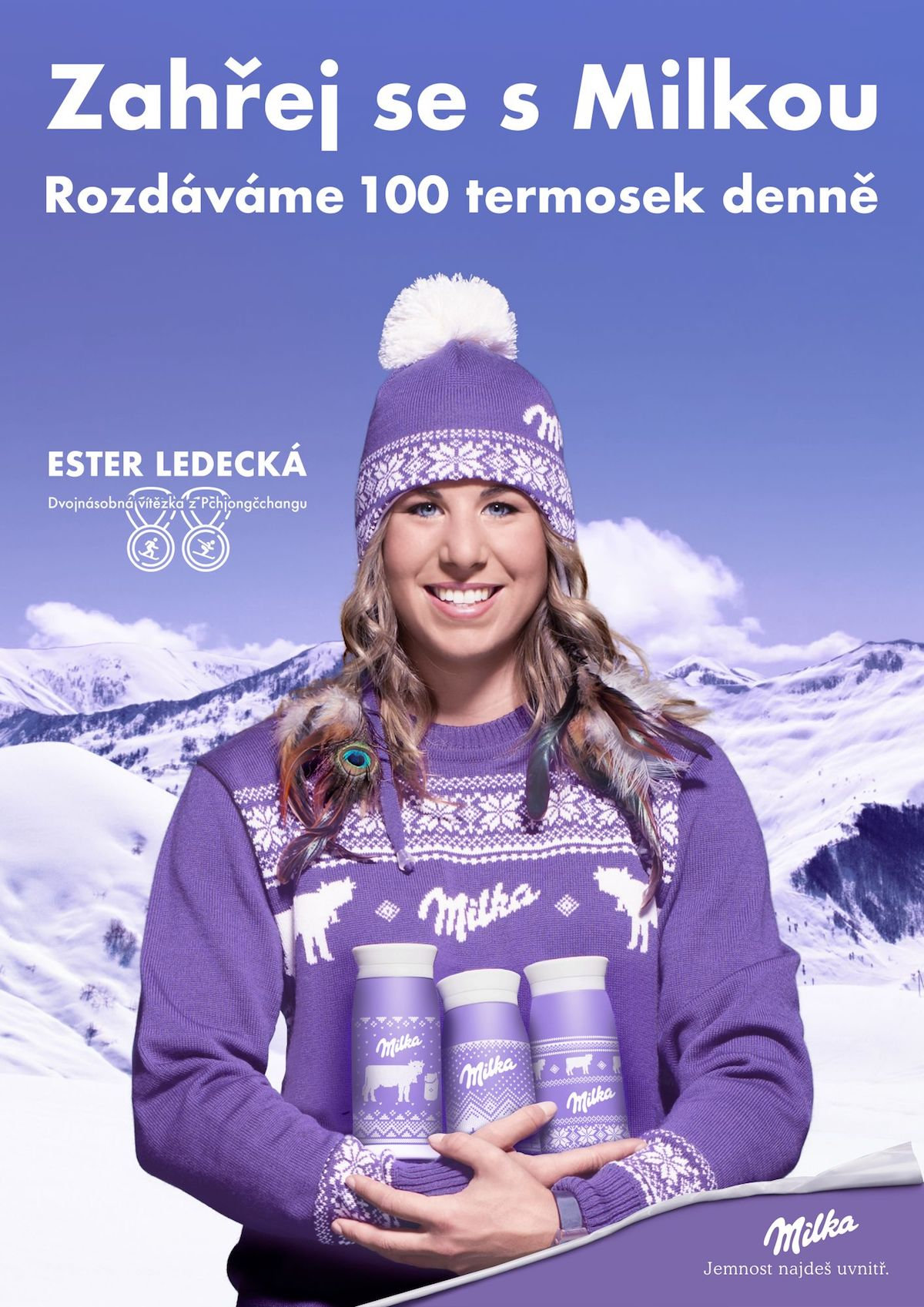 Ukázka připravované kampaně pro značku Milka s její novou tváří Ester Ledeckou