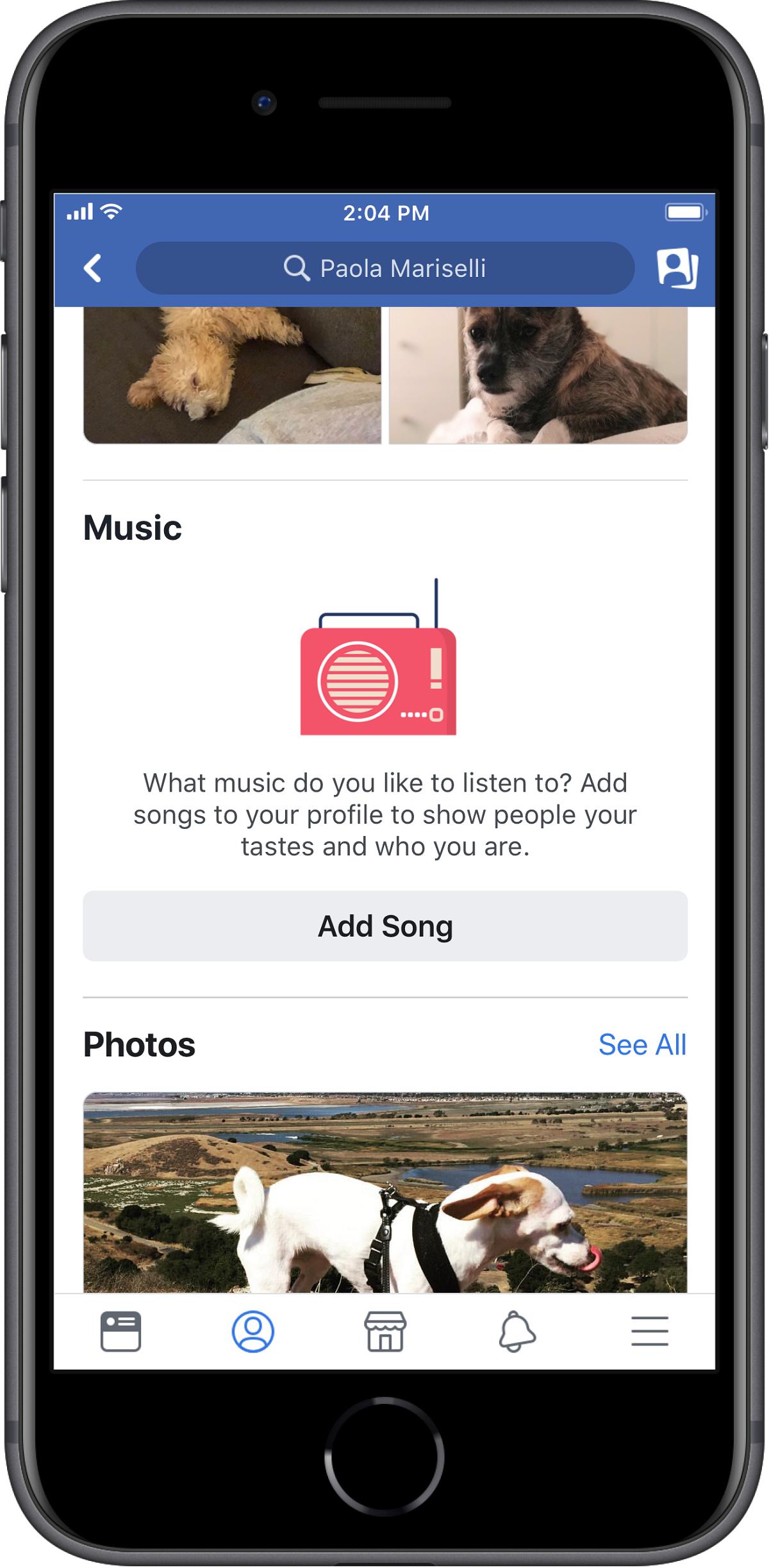 Uživatelé si mohou přidávat hudbu přímo na svůj profil do nové sekce