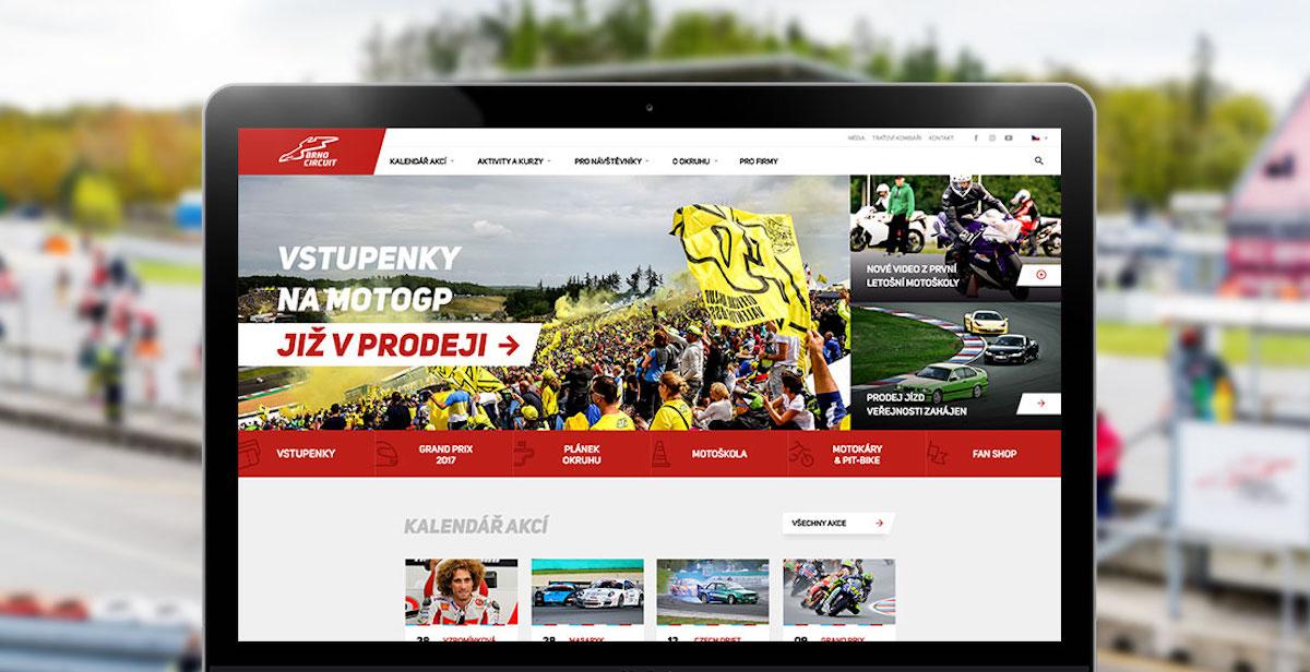 Web automotodromu Brno v novém podle agentury Cognito