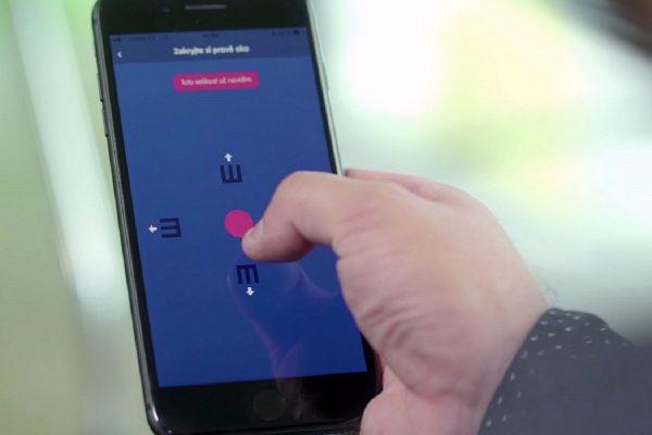 Aplikace Vidíš dobře měří dioptrie a ostrost zraku v domácím prostředí