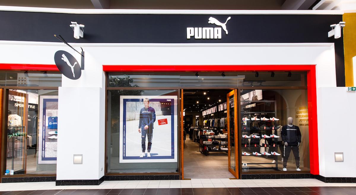 Zmodernizovaná prodejna značky Puma
