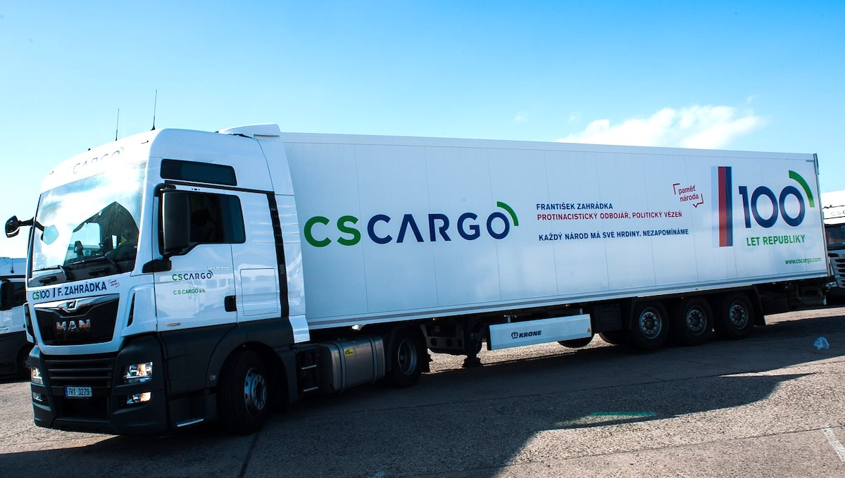 František Zahrádka na kamionu CS Cargo