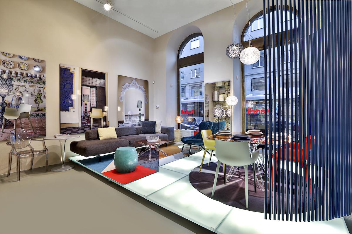 Nový design obchodu Kartell v pražské Revoluční 14
