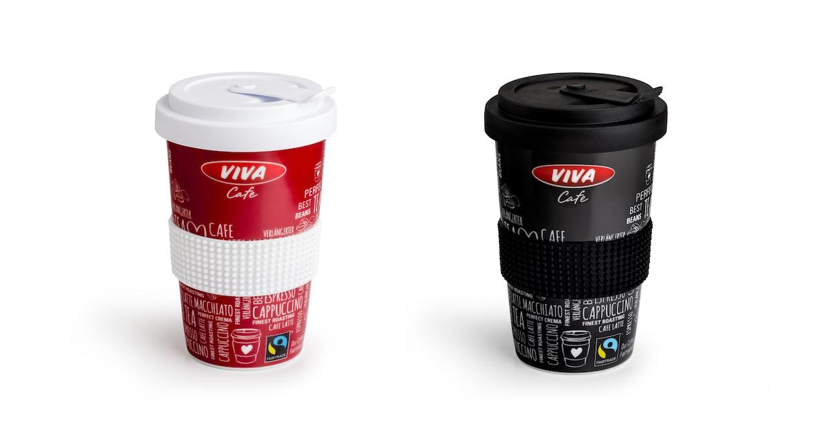 Porcelánové kelímky na kávu z OMV