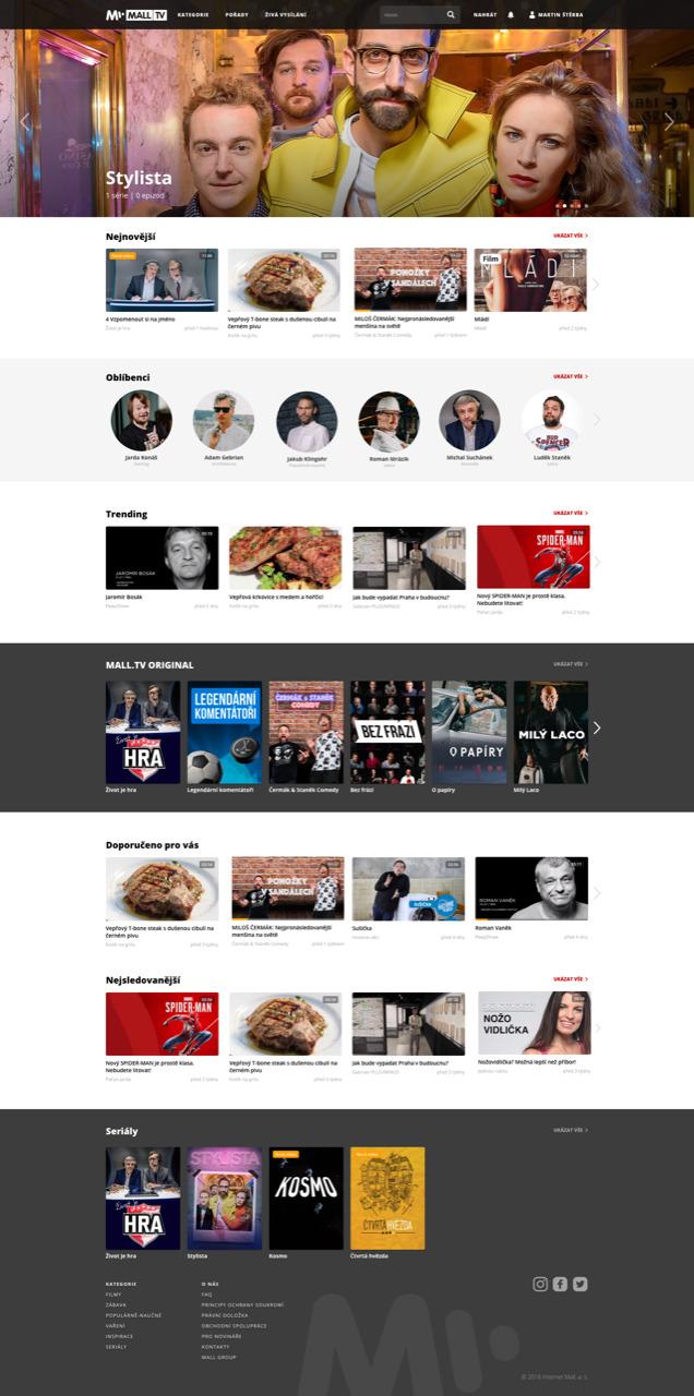 Homepage Mall.tv