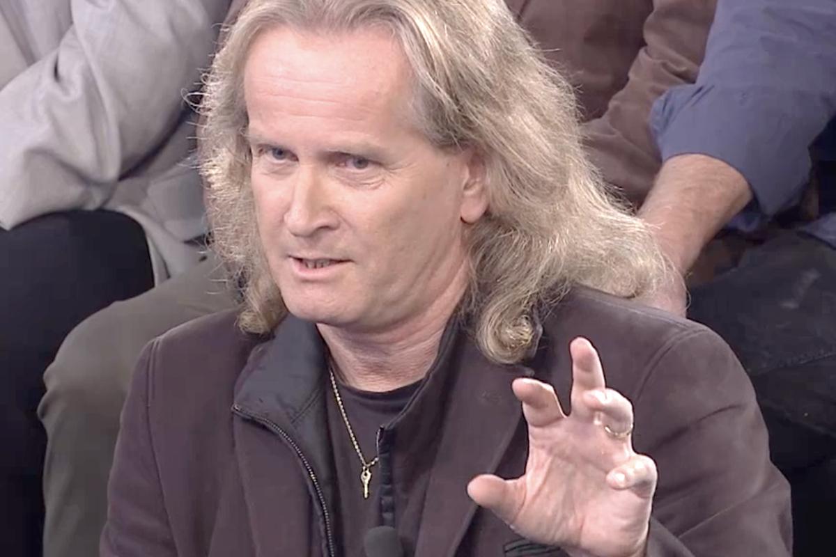 Petr Štěpánek v pořadu Jaromír Soukup Live televize Barrandov. Repro: TV Barrandov