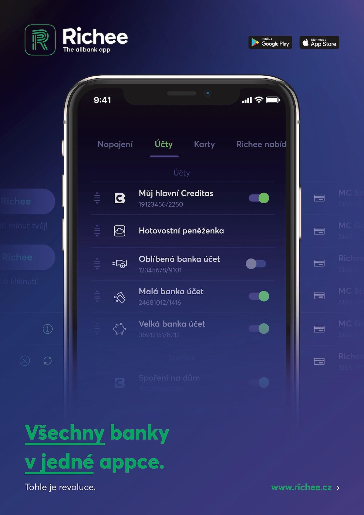 Multibankovní aplikace Richee