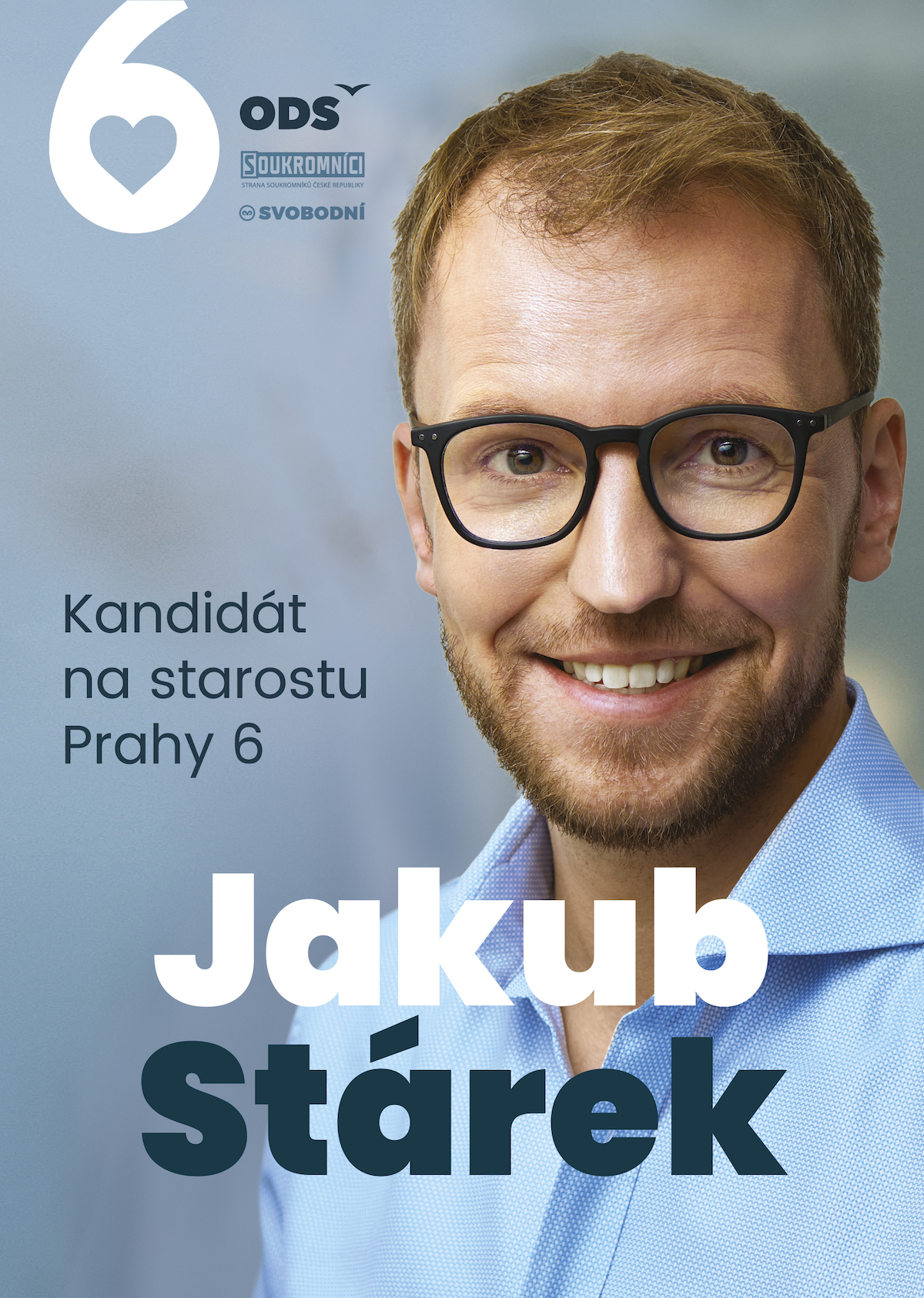 Jakub Stárek. kandidát na starostu Prahy 6