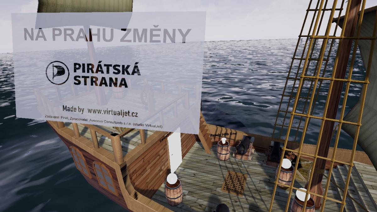 Pirátská strana také využila pro svou kampaň virtuální realitu