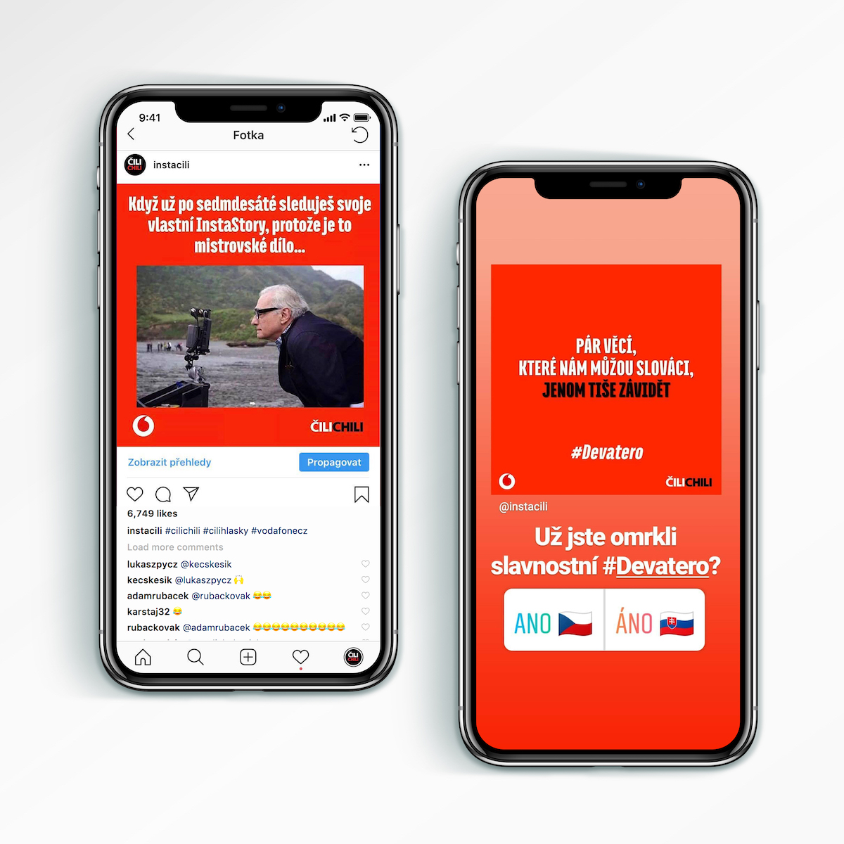 Jak Vodafone komunikuje na Instagramu