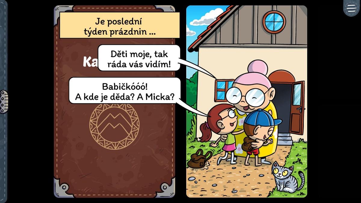 Příběh hry si děti mohou přečíst a poslechnout v interaktivním dabovaném komiksu