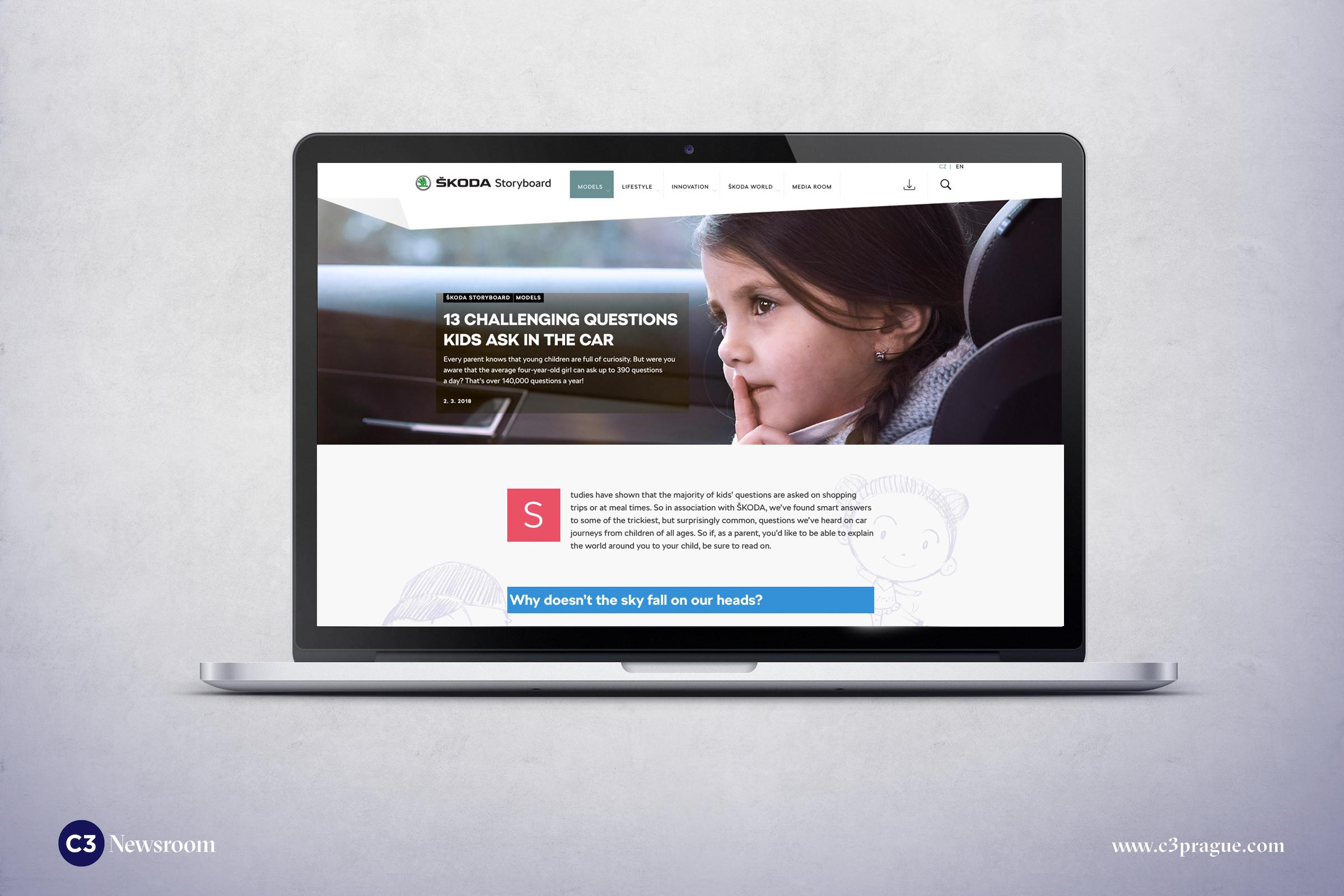 Ukázka z online magazínu Škoda Storyboard
