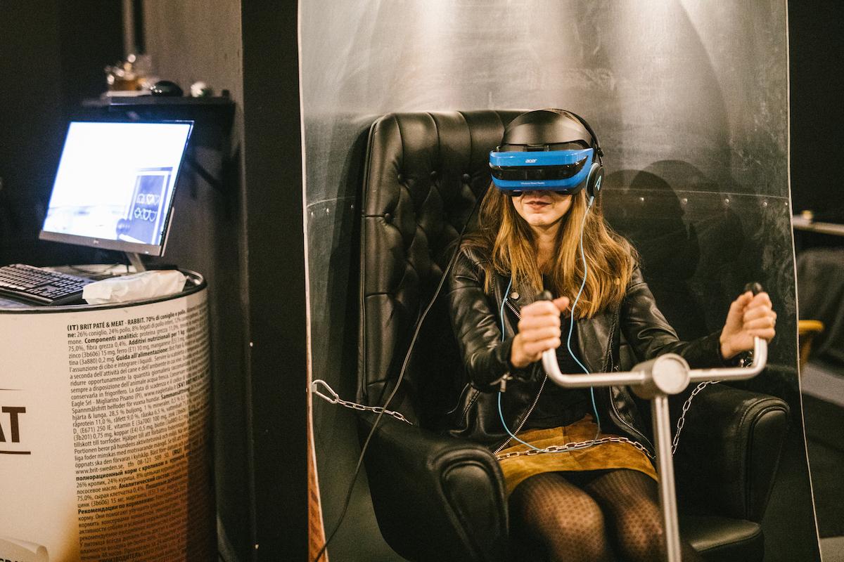 Návštěvníci si mohli vyzkoušet virtuální realitu