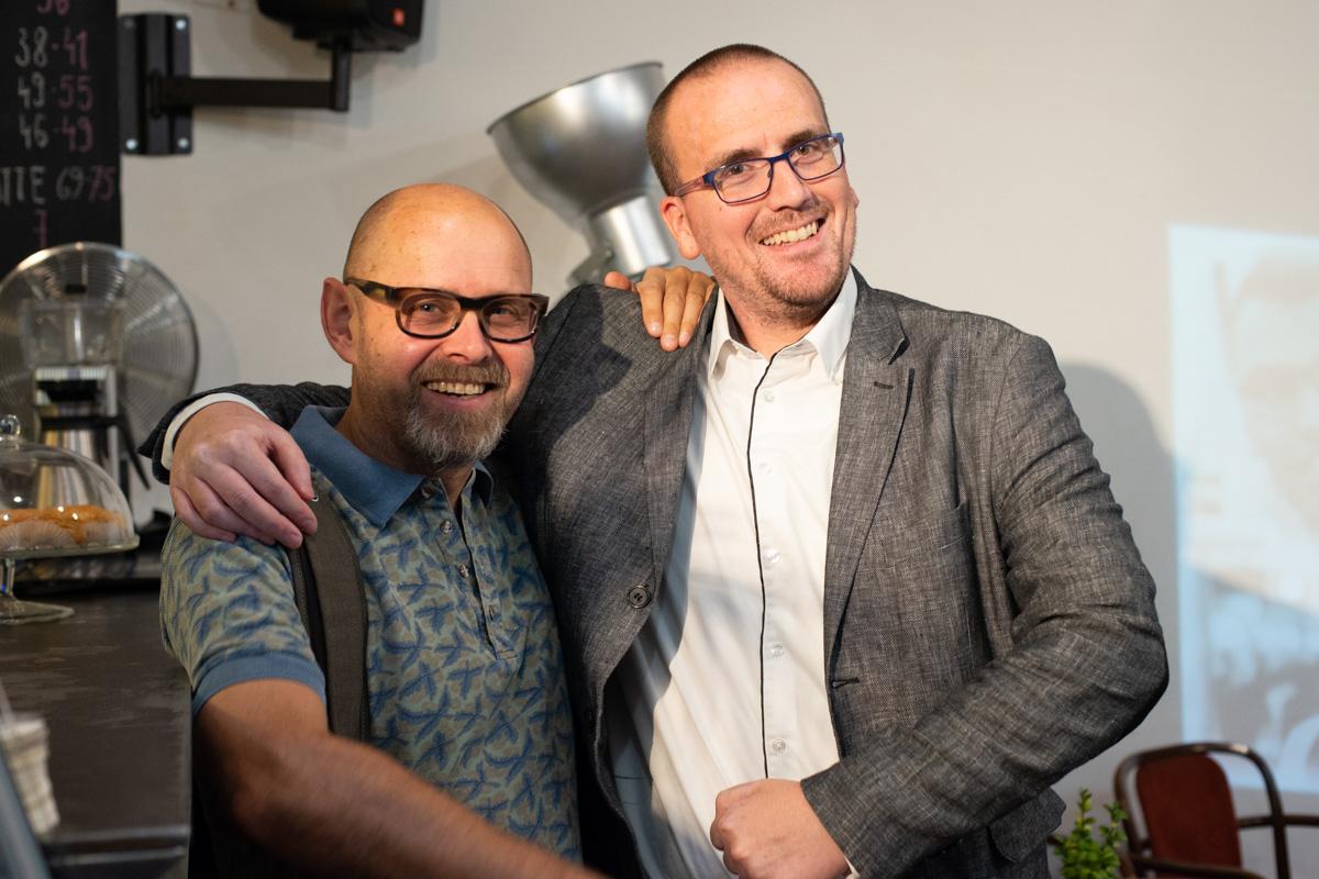 Petr Laštovka (vpravo) a Marek Hlavica na zářijových Digitálkách v Ponrepu. Foto: David Bruner